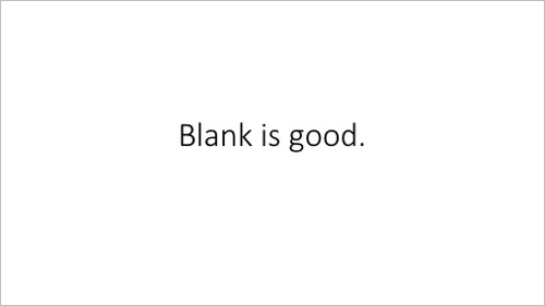 PowerPoint design tips 1 - The blank template