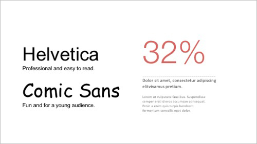 PowerPoint design tips 3 - Typeface and type size