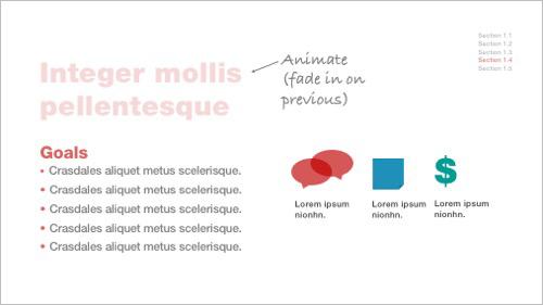PowerPoint design tips 6 - Minimal animation