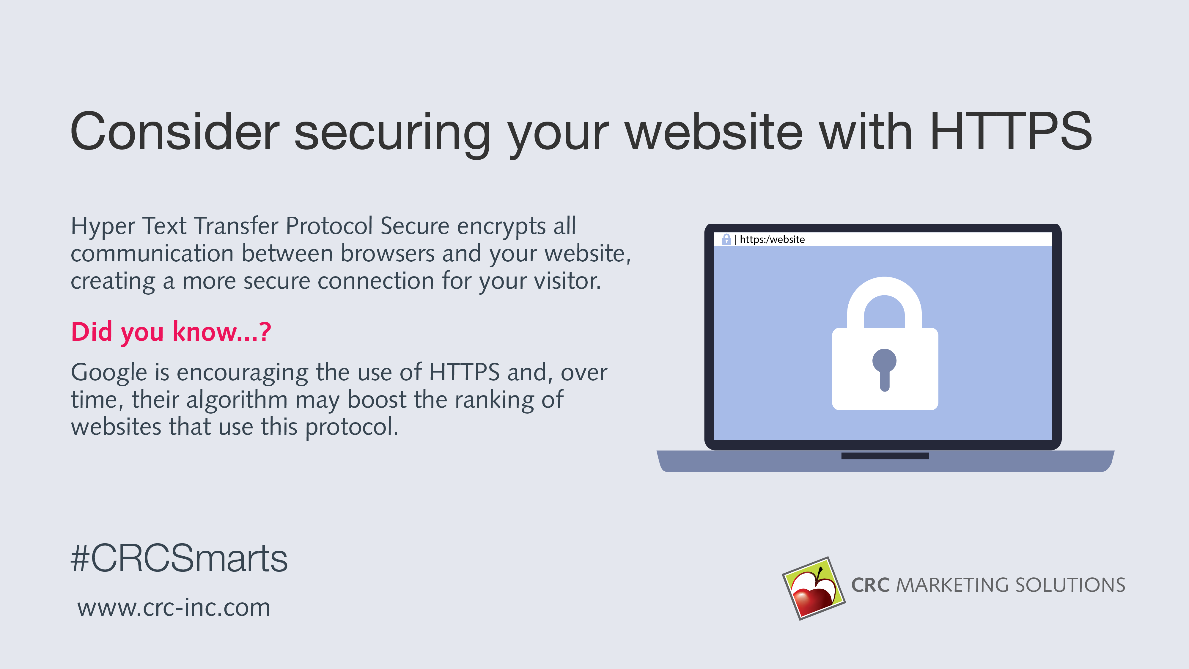 Consider securing your website with HTTPS