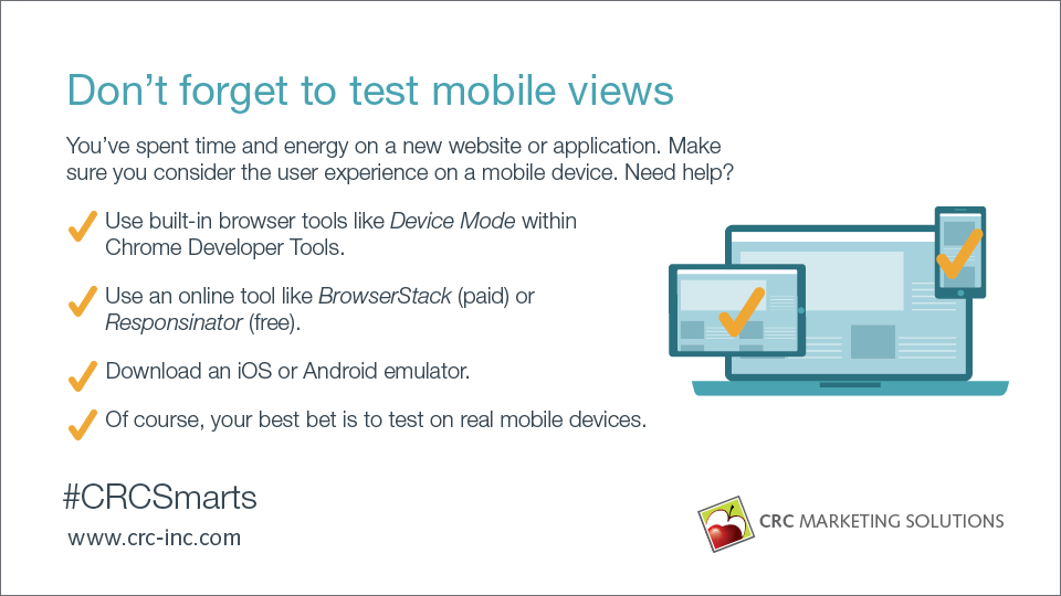 Don't Forget to Test Mobile Views