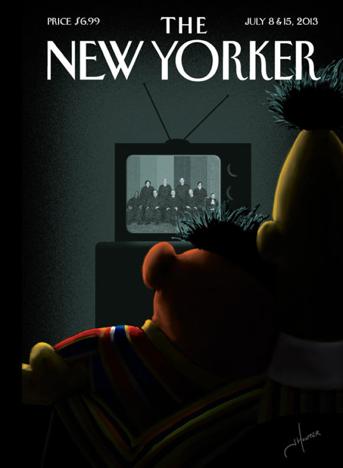New Yorker Cover, July 8 and 15, 2013, Jack Hunter for the New Yorker