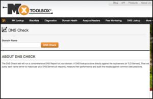 MXToolBox DNS Check
