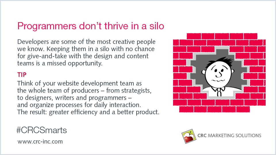 Programmers don't thrive in a silo