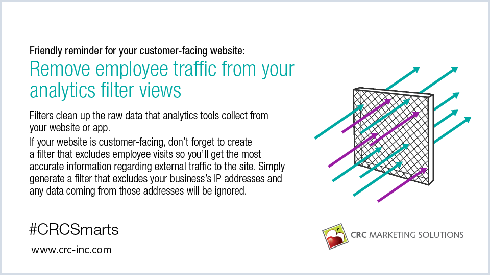 Remove employee traffic from your analytics filter views