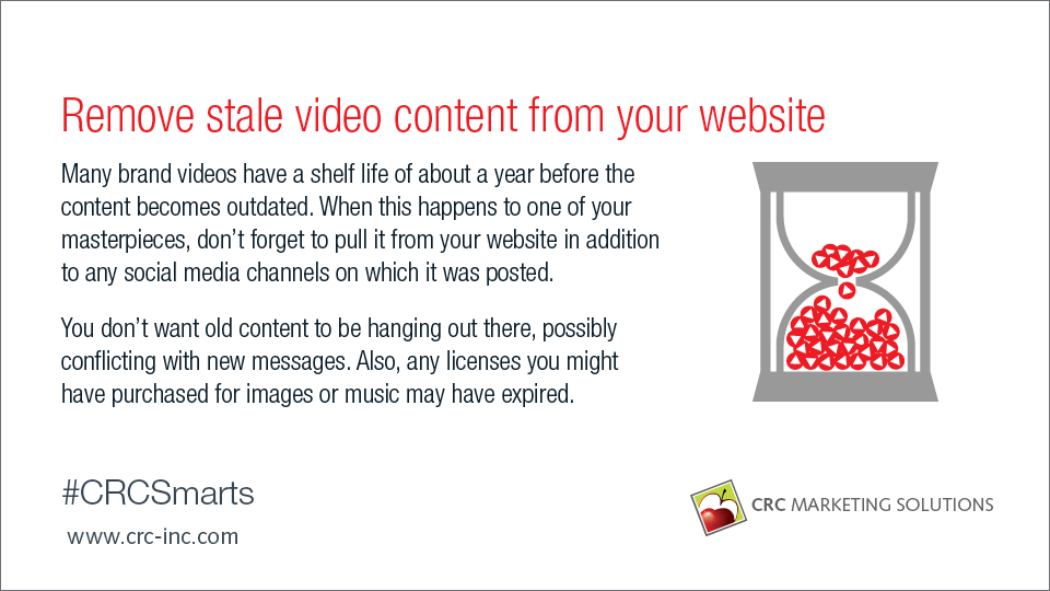 Remove stale video content from your website