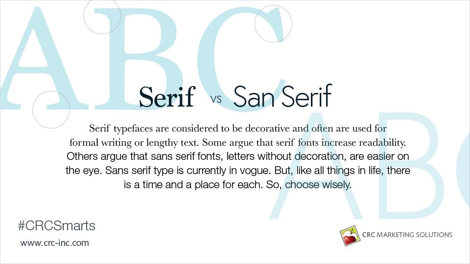 Serif vs. San Serif