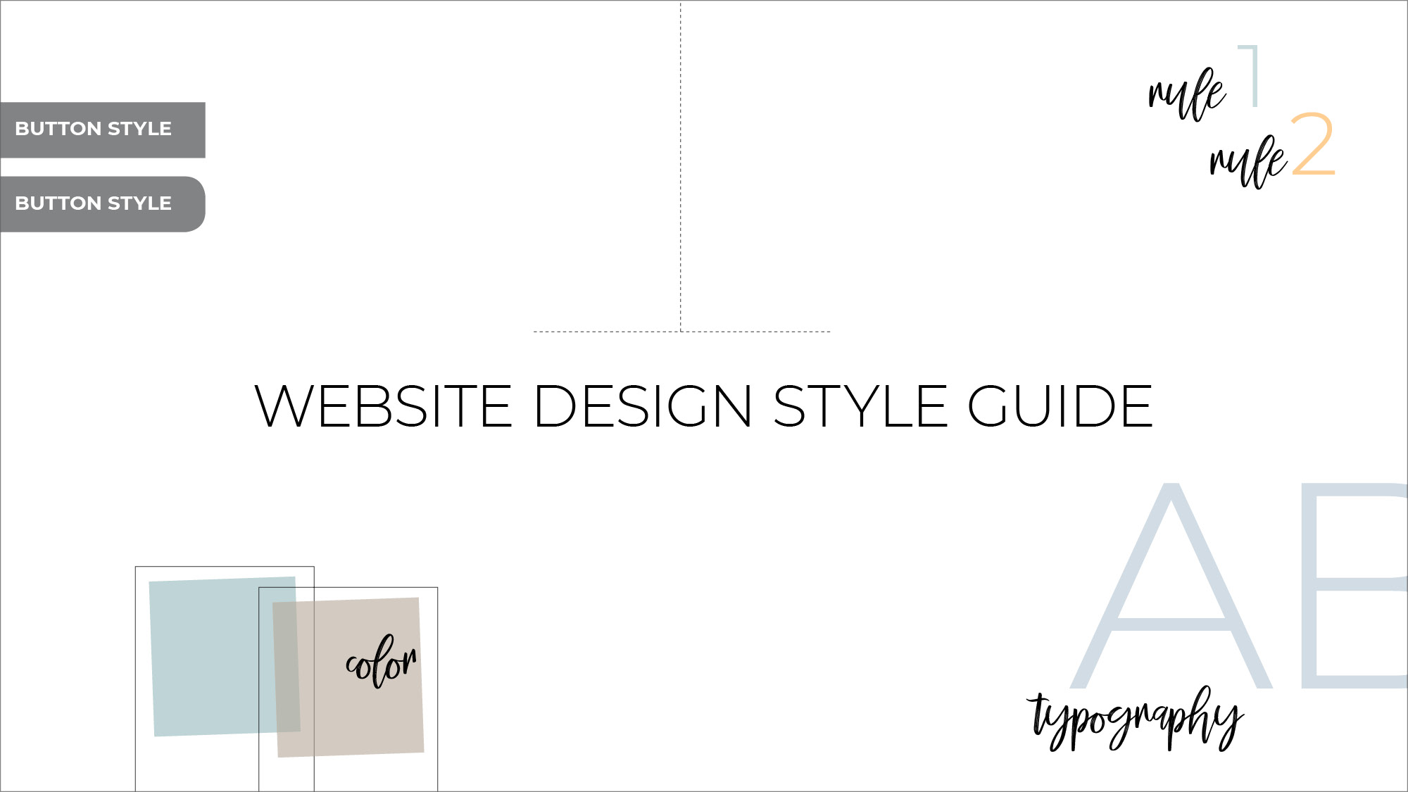 Six reasons why your website needs a design style guide