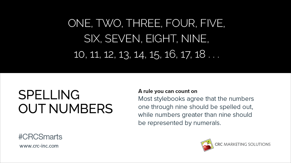 Spelling out numbers, a rule you can count on