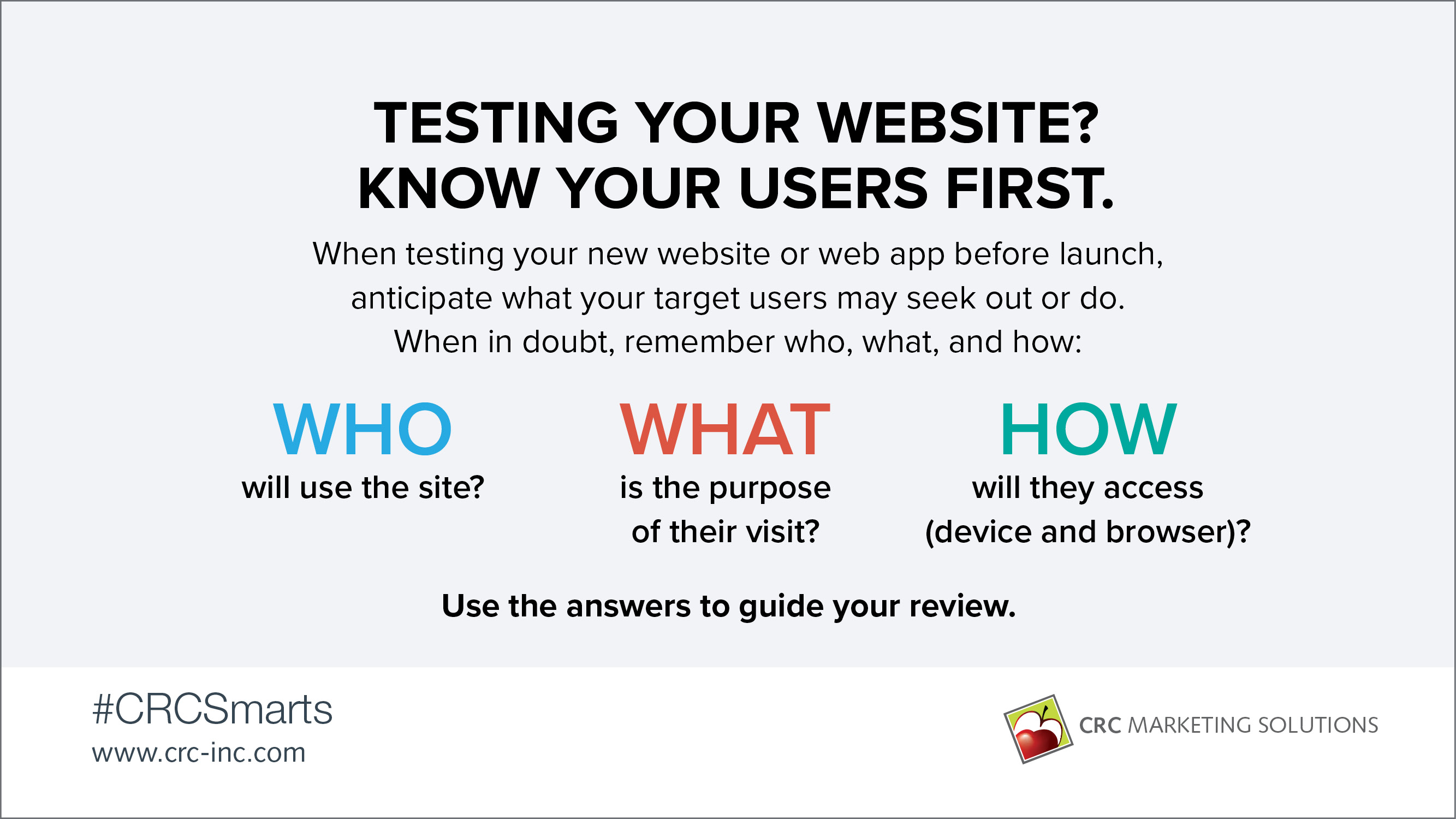 Testing your website? Know your users first