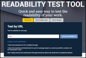 WebpageFX Readability Test Tool