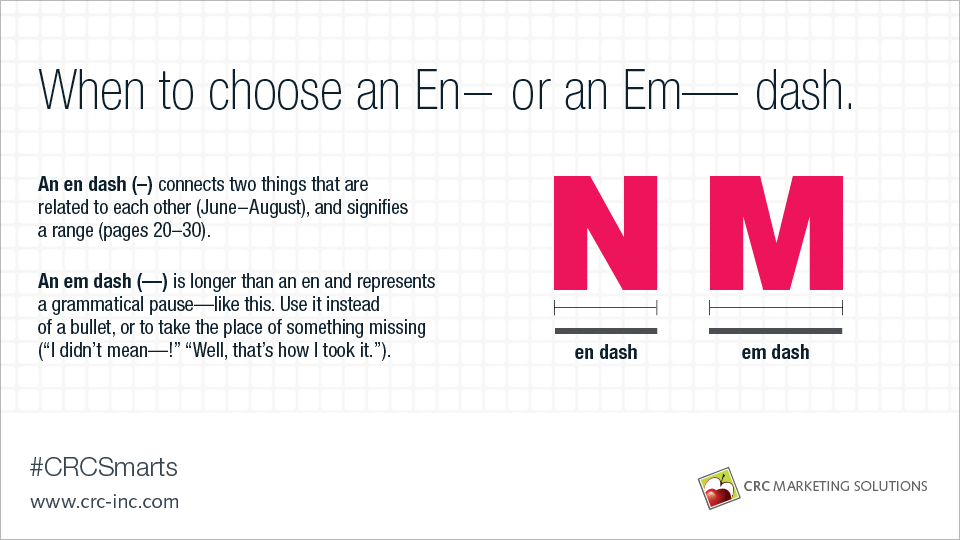 When to choose an En– or an Em— dash