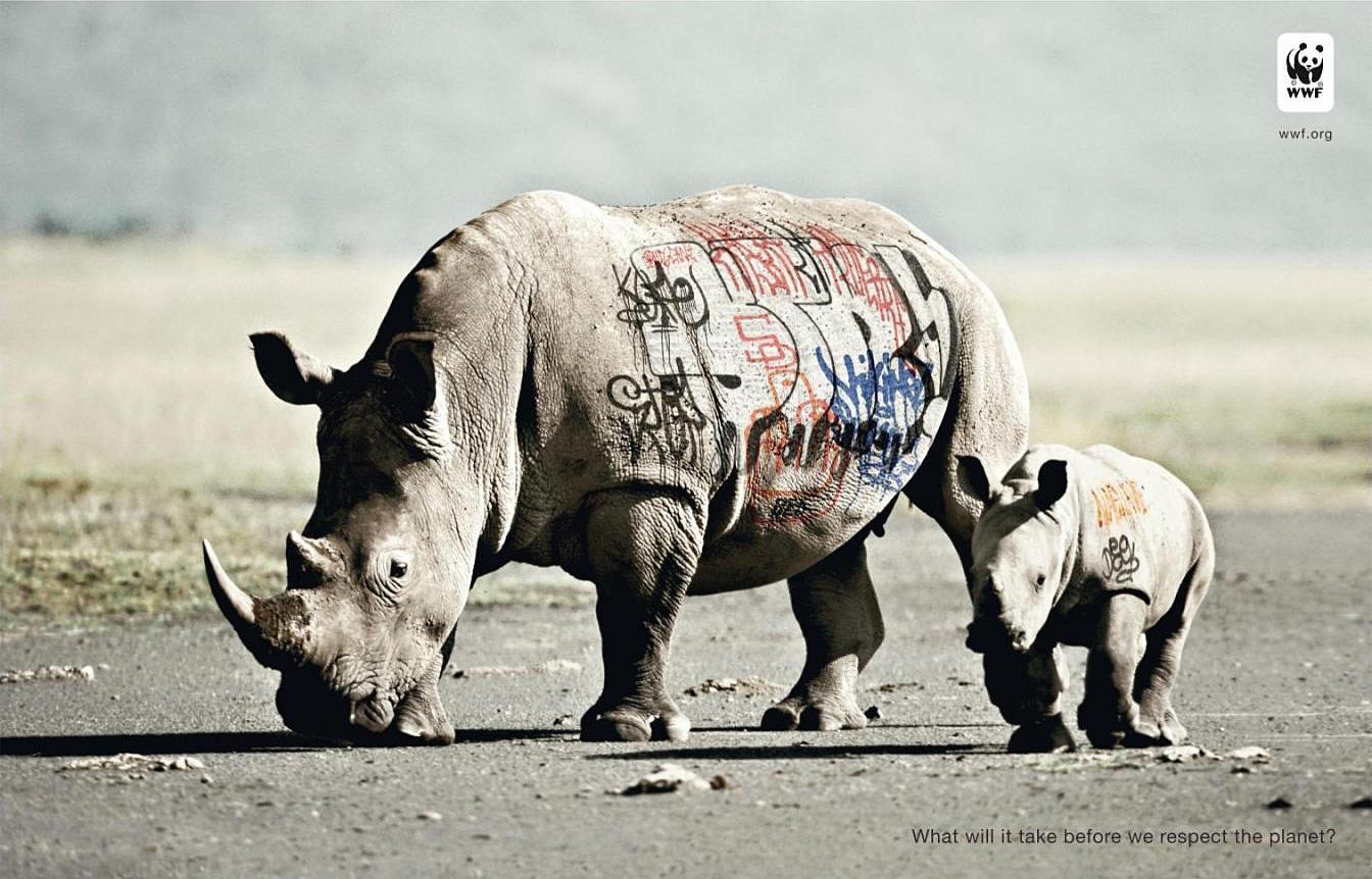 Ogilvy for Word WildLife Fund - Biodiversity And Biosafety Awareness, Rhinoceros